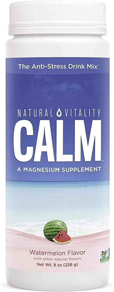 Natural Vitality Calm, Magnesium Citrate Supplement, Anti-Stress Drink Mix Powder, Original, Watermelon