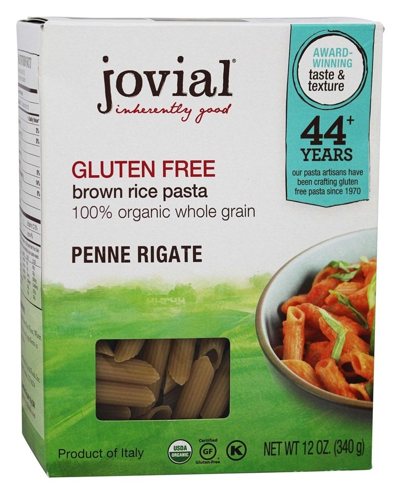 Jovial Organic Brown Rice Penne Rigate Pasta