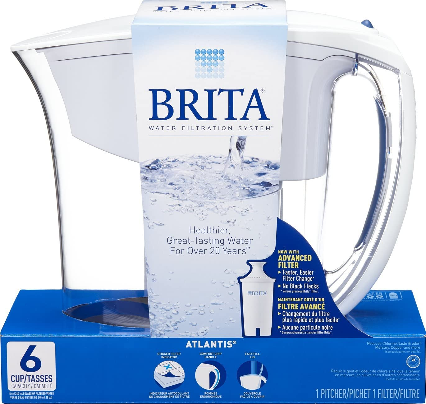 Brita Small 6 Cup Water Filter Pitcher