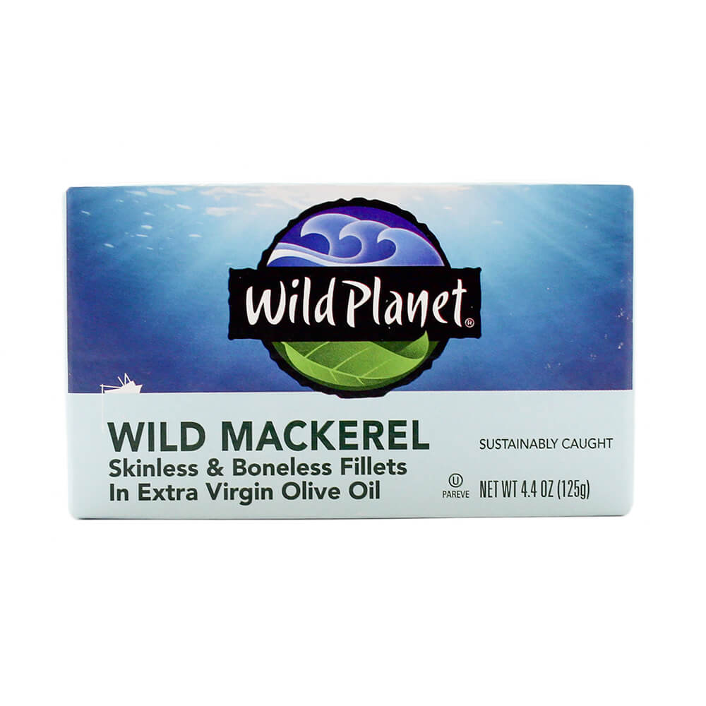 Wild Planet Wild Mackerel Fillets in Organic Extra Virgin Olive Oil